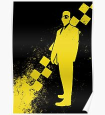 Black Leather Yellow Leather: Invert Poster