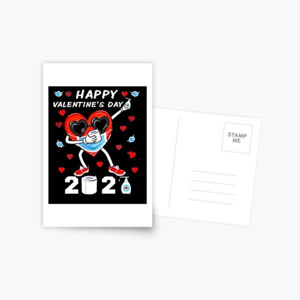 Dabbing Heart In A Mask Happy Valentine's Day 2021 Men Women Postcard