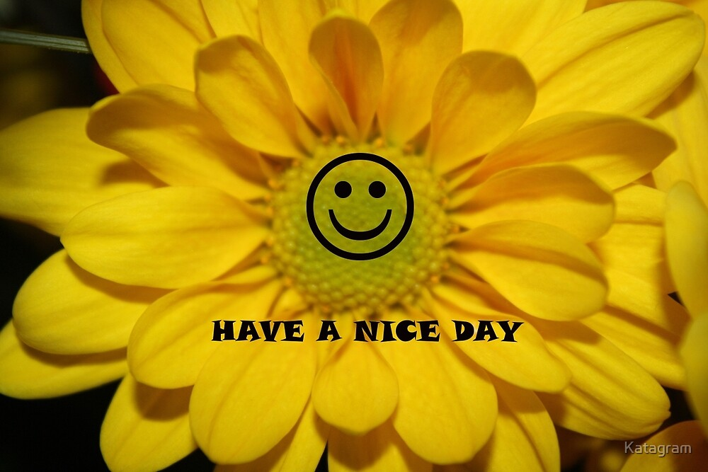Have A Nice Day by Katagram