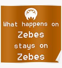 What happens on Zebes... Poster