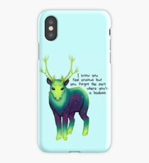 """The Part Where You're a Badass"" Galaxy Caribou iPhone Case/Skin"