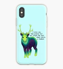 """""""The Part Where You're a Badass"""" Galaxy Caribou iPhone Case"""
