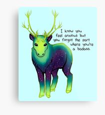 """The Part Where You're a Badass"" Galaxy Caribou Metal Print"