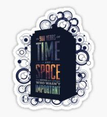 Doctor Who - Space and Time Sticker