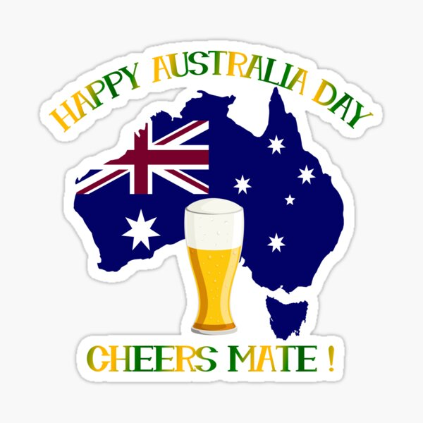 Happy Australia Day Sticker