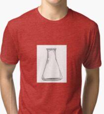 Black And White Chemistry Beaker Tri-blend T-Shirt