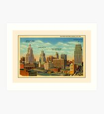 Vintage Business Section Kansas City MO Art Print