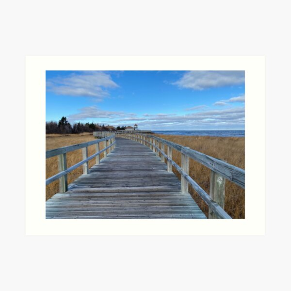 Ocean Boardwalk near Bouctouche, New Brunswick Art Print