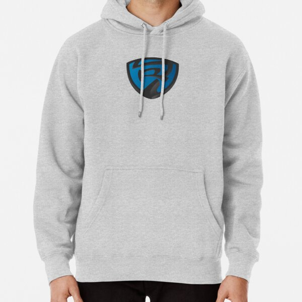 Route 7 Orlando - Black and Blue Shield  Pullover Hoodie