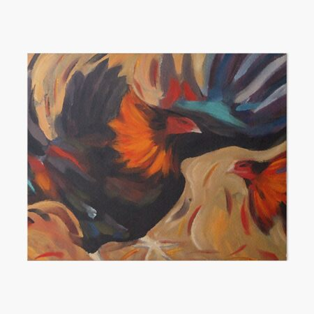 Clash - Rooster Painting Art Board Print