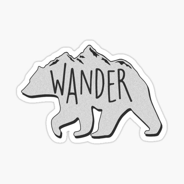 Wander Bear Mountain Sticker