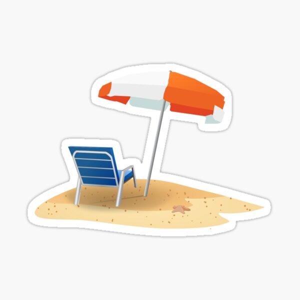 Beach Umbrella Sticker