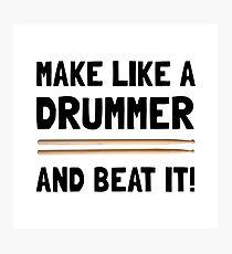 Drummer Beat It Photographic Print