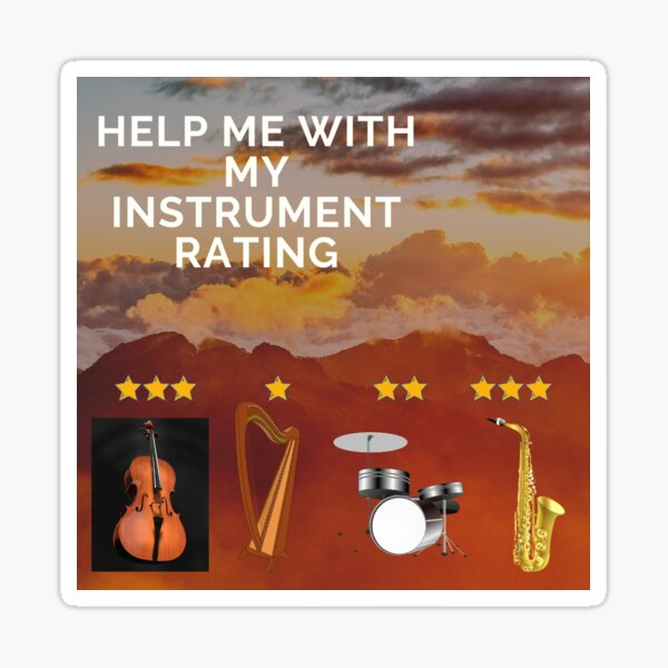 Aviation Humor - help with instrument rating Sticker