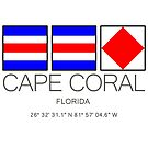 CAPE CORAL, Florida Nautical Flag Art by MyHandmadeSigns
