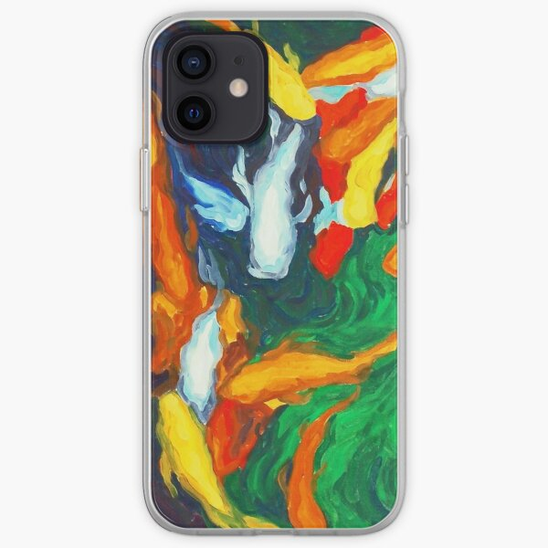 Koi in My Mind - Koi Fish Painting iPhone Soft Case