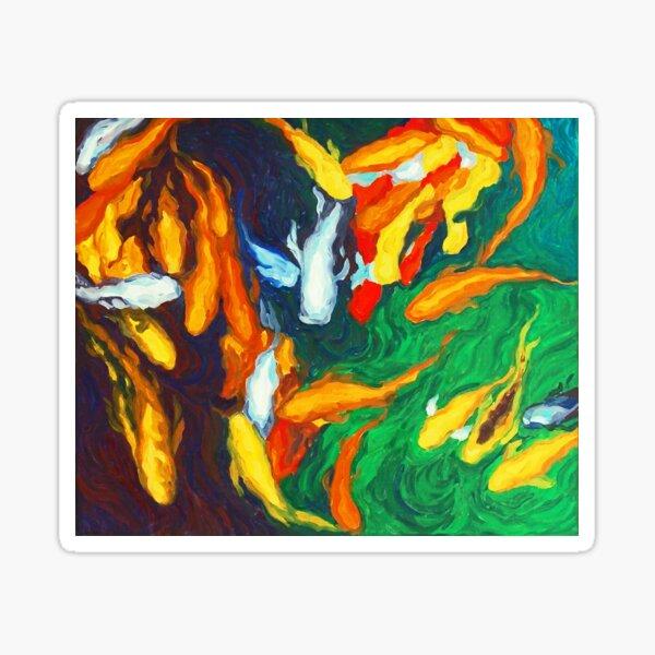 Koi in My Mind - Koi Fish Painting Sticker
