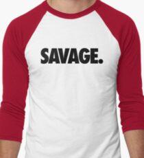 SAVAGE - (Schwarz) Baseballshirt mit 3/4-Arm