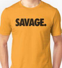 SAVAGE - (Schwarz) Slim Fit T-Shirt