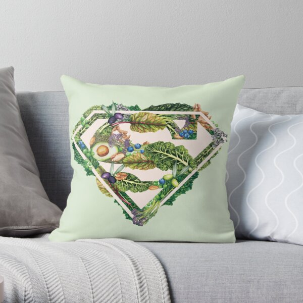 Super Powered By Plants Throw Pillow