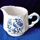 Blue and White Cream Jug by Shulie1