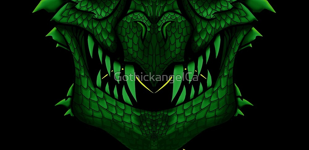 Green Dragon Mouth Mask V2 by GothickangelCa