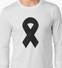 Black Melanoma Ribbon Long Sleeve T-Shirt