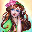 Persephone Watercolor Painting by yammybonbon