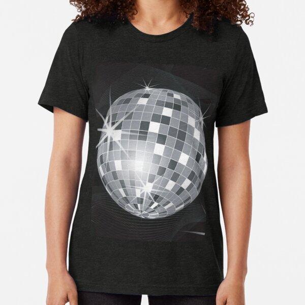 Diskokugel T-Shirt Damen party house techno discokugel club musik club 70er 80er