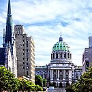 Harrisburg PA - Capitol Building Seen from State Street by Susan Savad