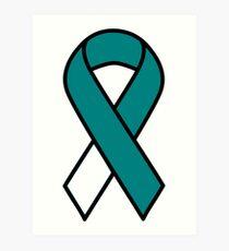 Cervical Cancer Ribbon Art Print