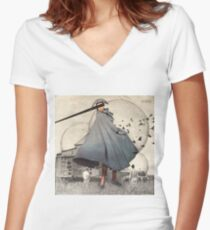 1947 Women's Fitted V-Neck T-Shirt