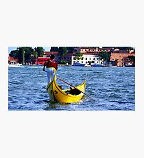 Gondoliere Canal Grande Venice Italy Photographic Print