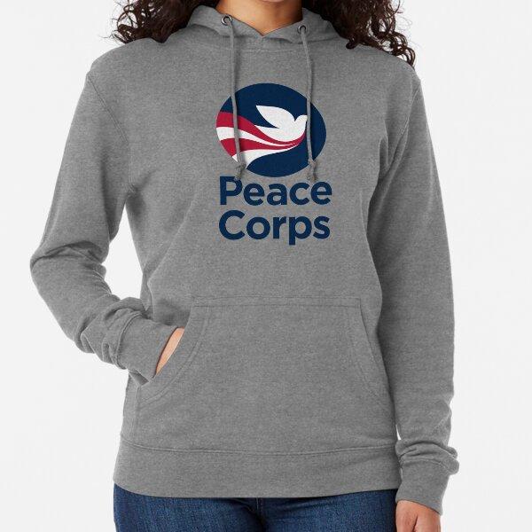 Cuerpo de Paz (Vertical) Sudadera ligera con capucha