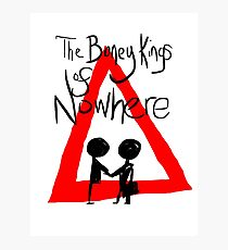 The Boney Kings of Nowhere Red Triangle Photographic Print