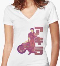 Rebel 02 Women's Fitted V-Neck T-Shirt