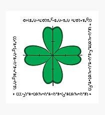 Mathematical four-leaf clover  Photographic Print