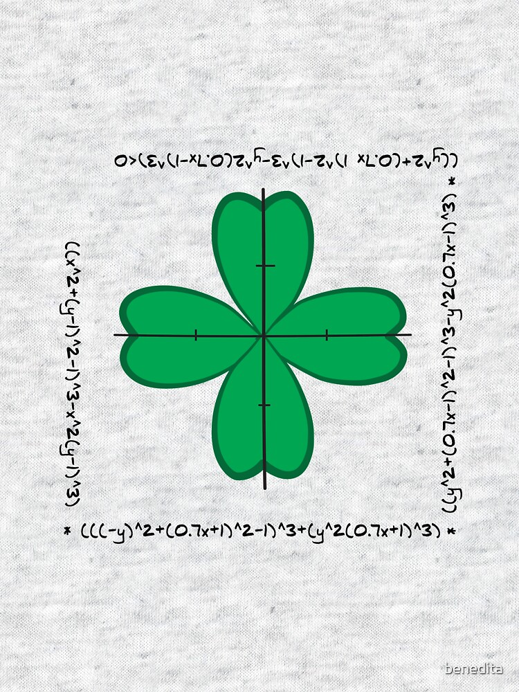 Mathematical four-leaf clover  by benedita