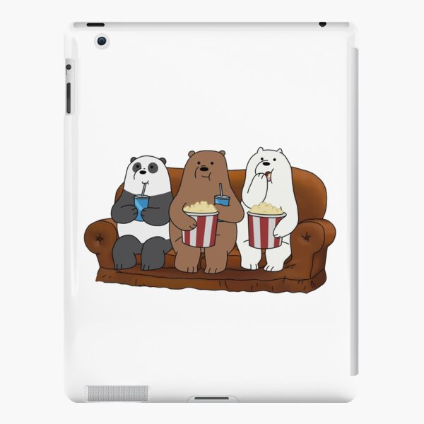 We Bare Bears ™ Panda, Grizzly and Ice Bear at movie night iPad Snap Case
