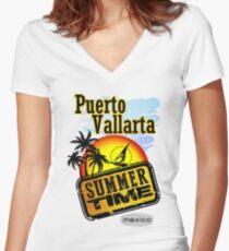 Puerto Vallarta, Mexico Women's Fitted V-Neck T-Shirt