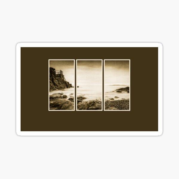 High rock triptych Sticker