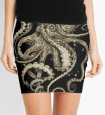 Octopsychedelia Sepia Mini Skirt