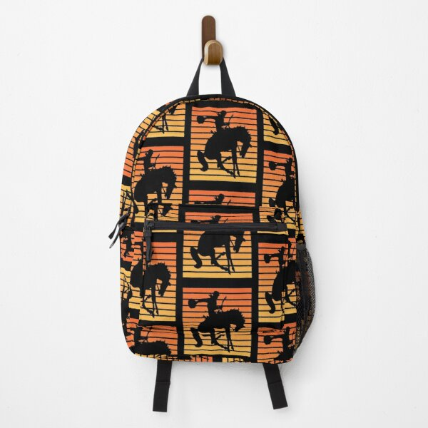 Vintage Bucking Bronco Cowboy in a Sunset  Backpack