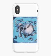 cartoon style flying elephant iPhone Case/Skin