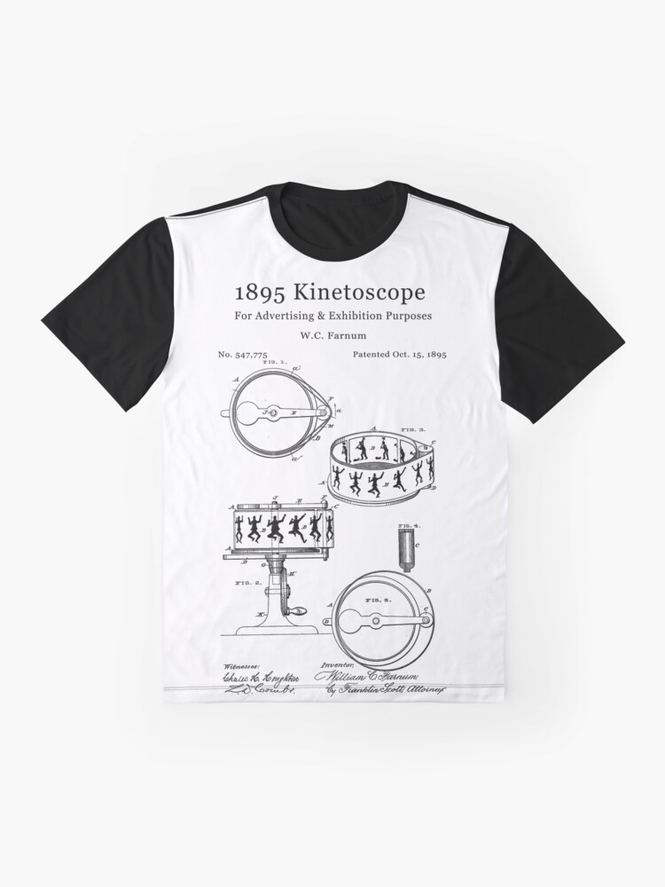 Alternate view of 1895 Kinetoscope - Antique cameras and film Graphic T-Shirt