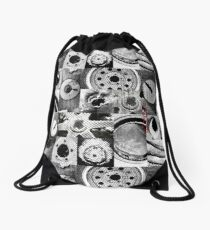 Rustic half tones Drawstring Bag