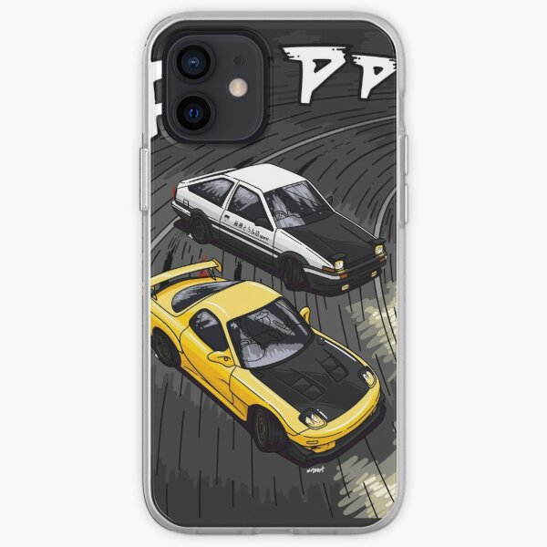 Illustration de style D initiale, RX7 vs AE86 Coque souple iPhone