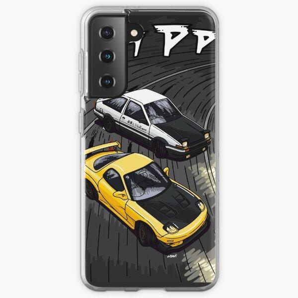 Initial D style artwork, RX7 vs AE86 Samsung Galaxy Soft Case