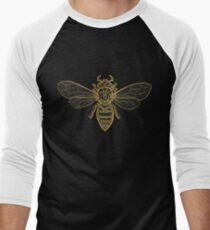 Mandala Bees Men's Baseball ¾ T-Shirt