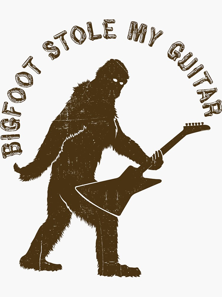 Bigfoot Stole My Guitar by KaijuCats